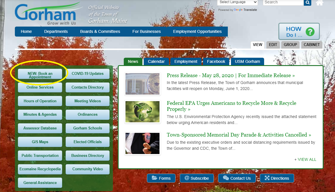 Website Homepage Screenshot